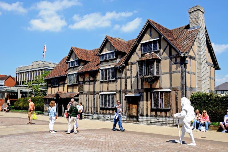 Shakespearesgeboorteplaats, stratford-op-Avon stock afbeeldingen