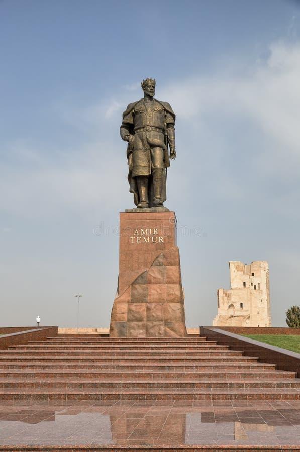 Shakhrisabz, monument à Amir Timur images libres de droits