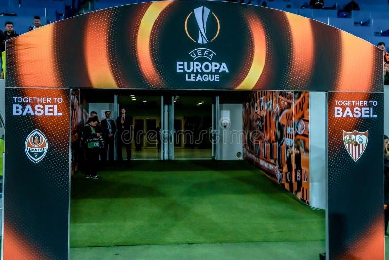 Shakhtar contra Sevilla fotos de archivo