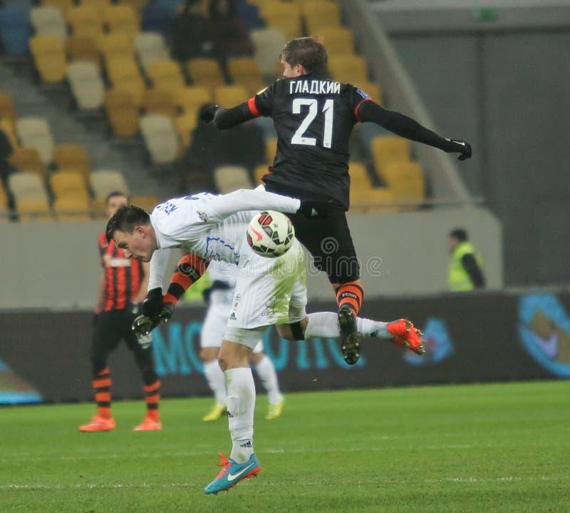 Shakhtar, Donetsk - Goverla, jogo de futebol de Uzhgorod imagens de stock
