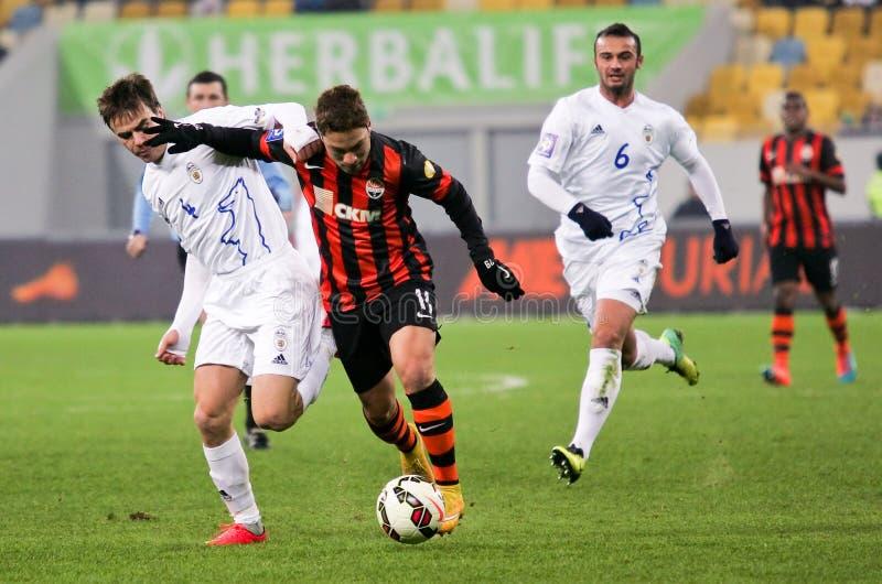 Shakhtar, Donetsk - Goverla, jogo de futebol de Uzhgorod imagens de stock royalty free