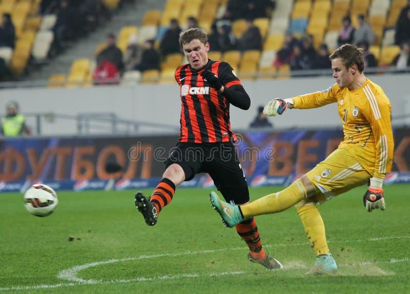 Shakhtar, Donetsk - Goverla, jogo de futebol de Uzhgorod fotos de stock