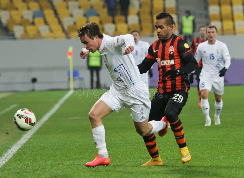 Shakhtar, Donetsk - Goverla, jogo de futebol de Uzhgorod foto de stock royalty free