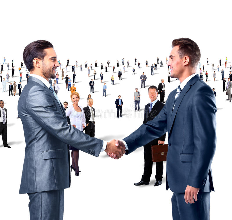 Shaking hands on a background stock images