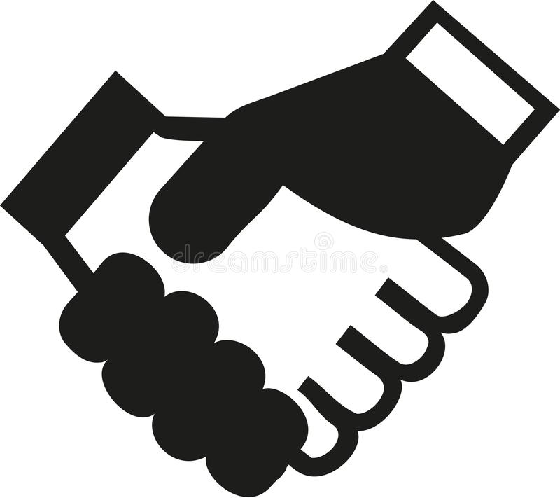 Shaking hands contract icon. Vector vector illustration