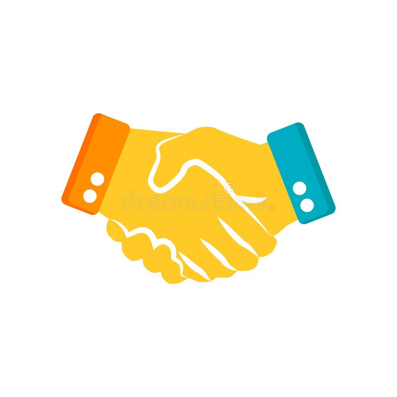 Shaking hands icon isolated on white background. For your web and mobile app design vector illustration
