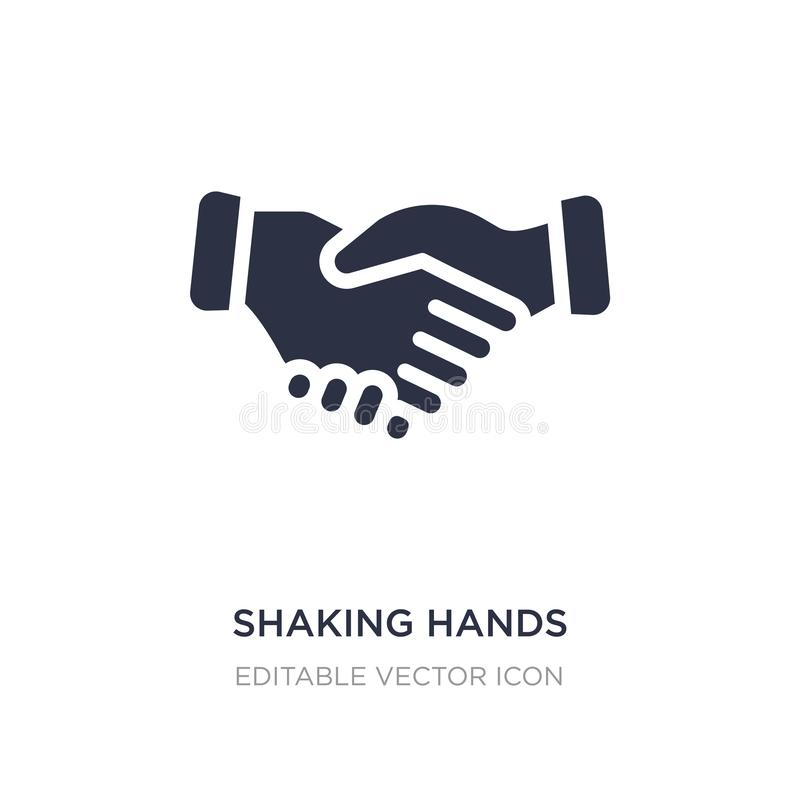 Shaking hands icon on white background. Simple element illustration from Business concept. Shaking hands icon symbol design royalty free illustration