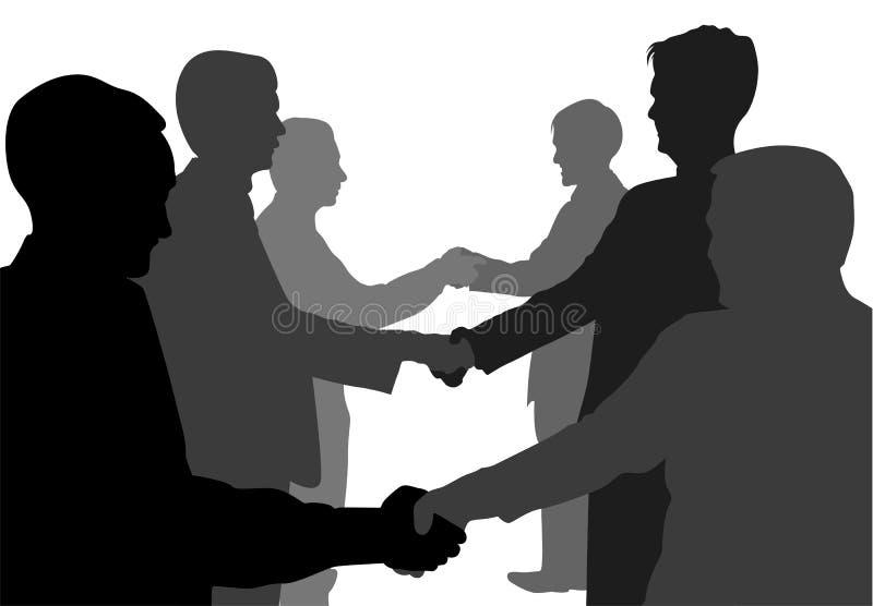 Shaking hands partners. Shaking hands business partners vector vector illustration