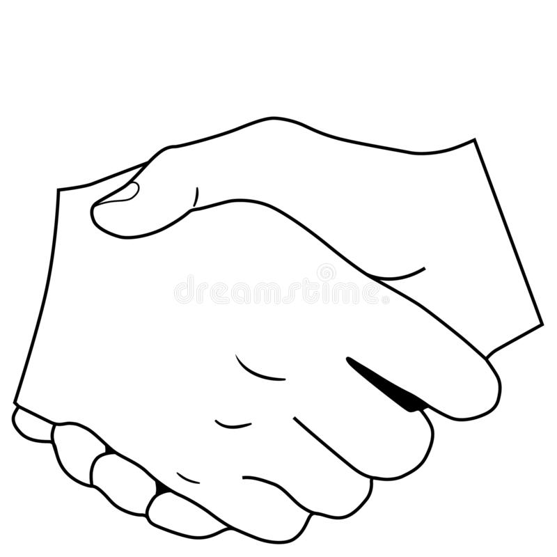 Shaking hands illustration by crafteroks vector illustration