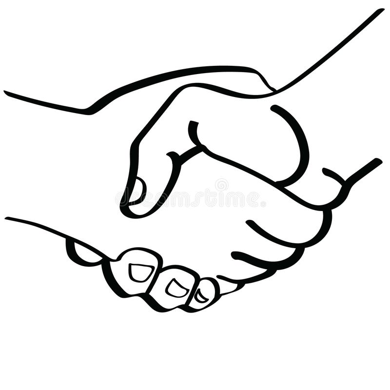 Shaking hands illustration by crafteroks royalty free illustration