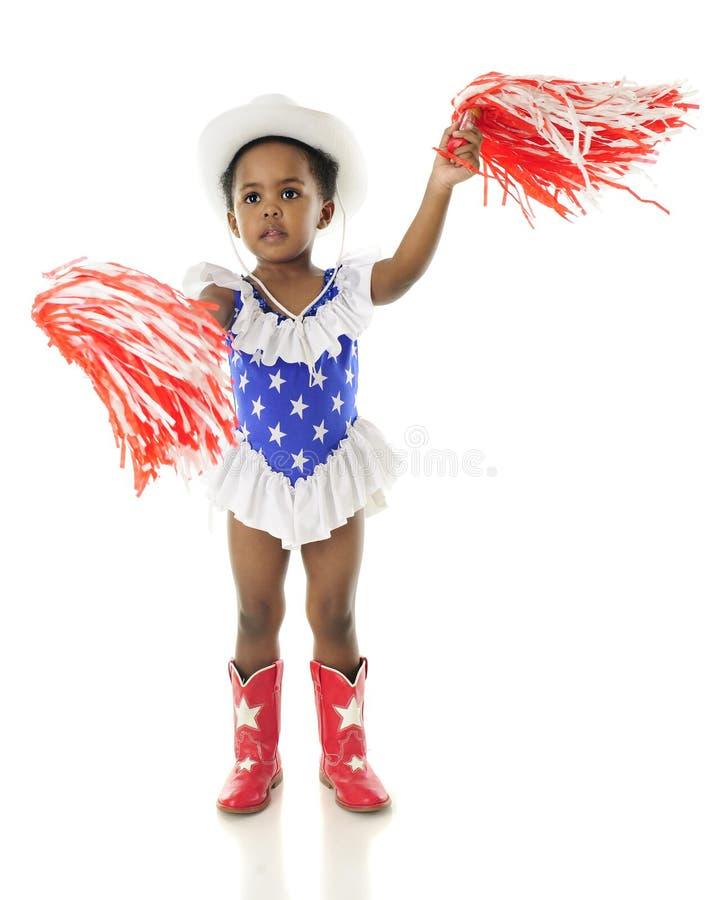 Shaking Pom-Poms for the USA stock photos