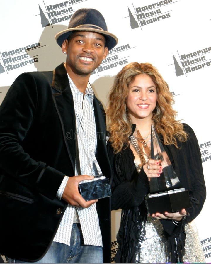 Shakira, Will Smith imagens de stock