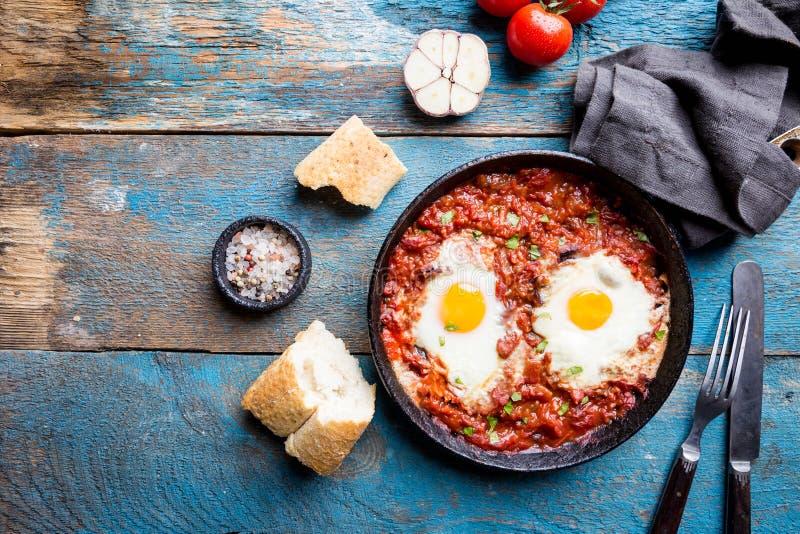 Shakshuka, nourriture typique de l'Israël image libre de droits