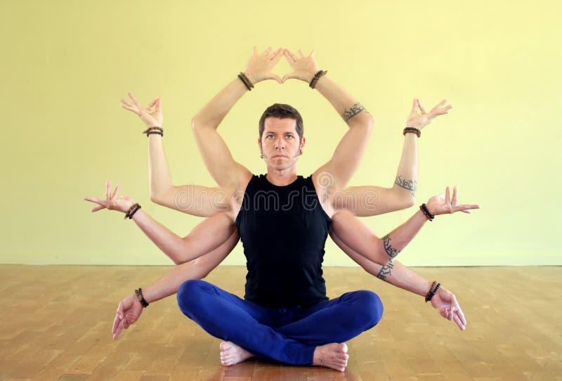 shakti shiva瑜伽 免版税库存图片