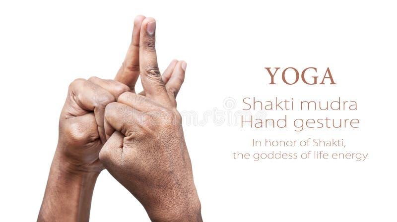 Shaktimudra van de yoga stock foto