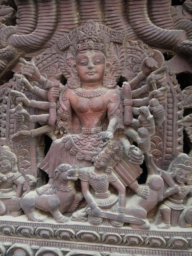 Shaktitrample van nepalsgod Bhaktapur royalty-vrije stock foto's