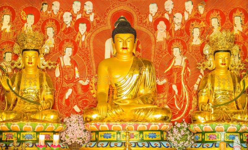 Shakyamuni, Ananda i Mahakasyapa, obrazy royalty free