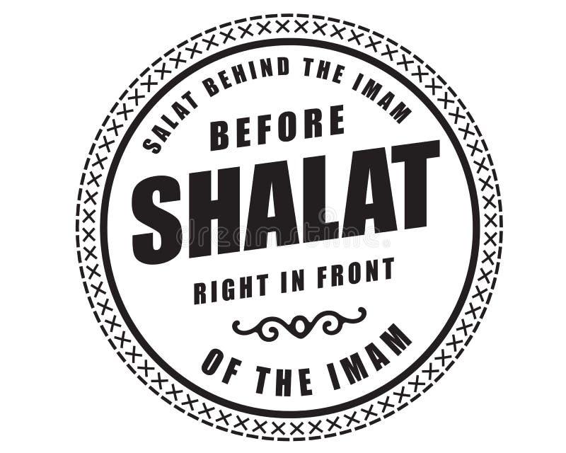 Shalat atrás da imã antes do direito do shalat na frente da imã ilustração stock