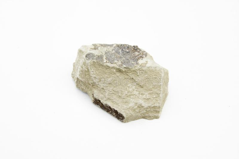 Shale over white royalty free stock photo