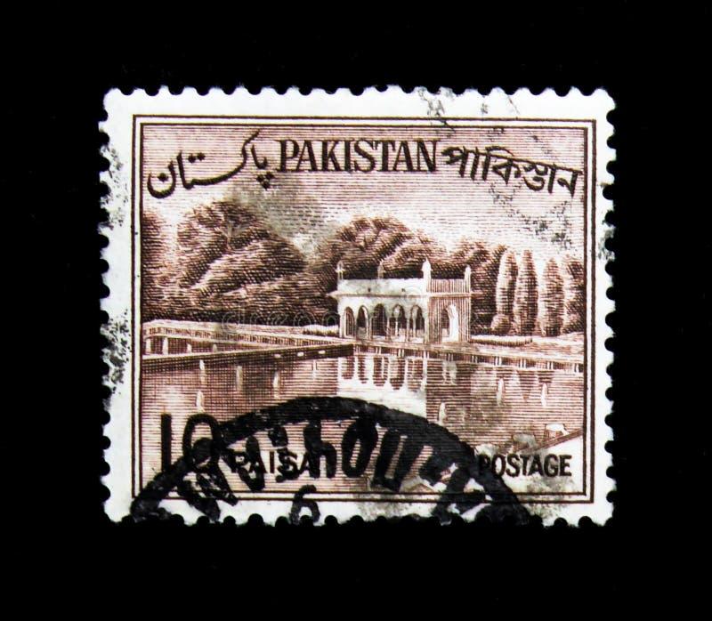 Shalimar庭院,国家观看serie,大约1963年 免版税图库摄影