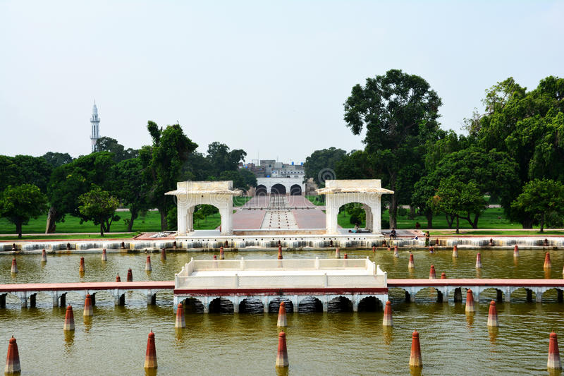 Shalimar Garden Lahore antiguo construido por el emperador Shah Jahan de Mughal foto de archivo libre de regalías