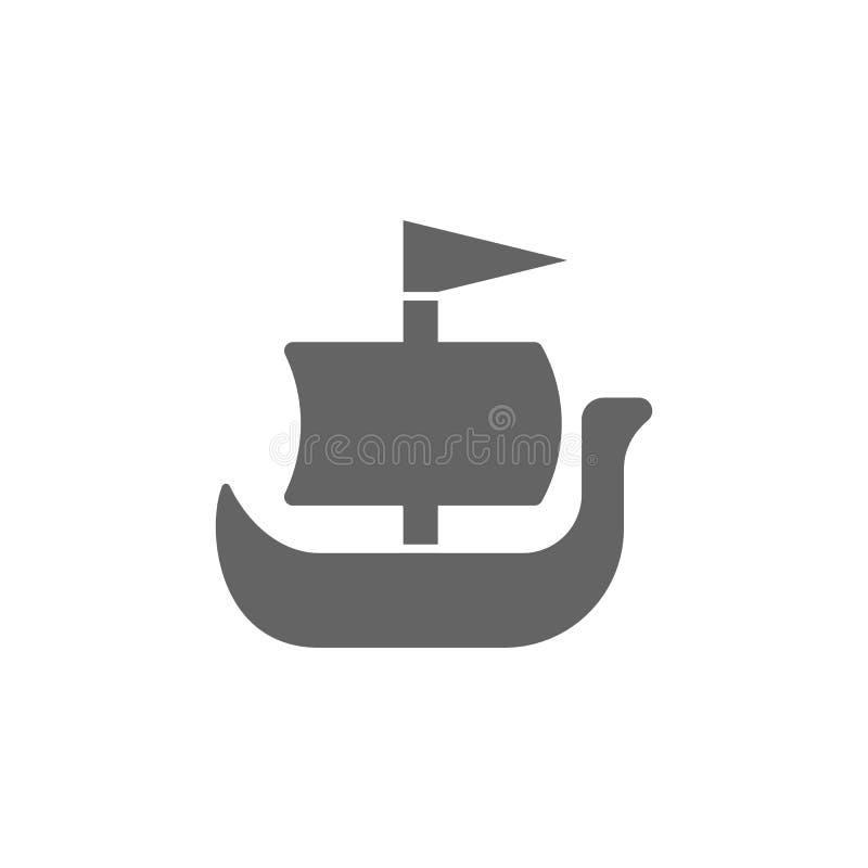 Shallop skepp, vikingsymbol Best?ndsdel av den enkla transportsymbolen H?gv?rdig kvalitets- symbol f?r grafisk design tecken och  stock illustrationer