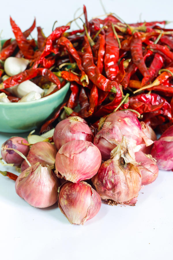 Download Shallots On White Background Stock Photo - Image: 30552988