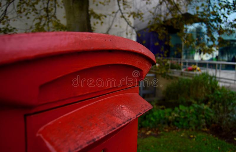 Typical Red British Post Box royalty free stock image