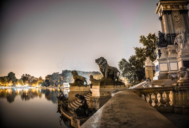 Shallow Focus of Gold Lion Statues royalty free stock image