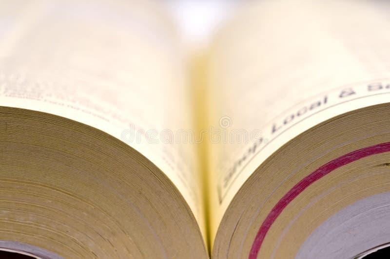 Shallow focus macro of a phone book