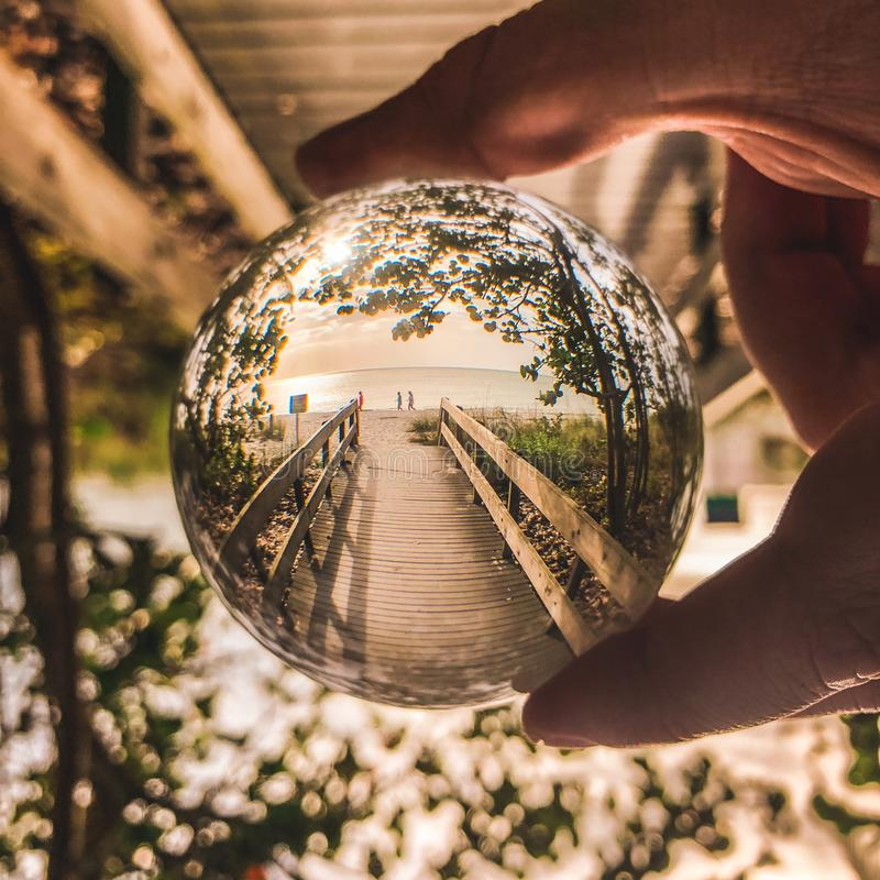 Shallow Focus Photo Of Glass Ball stock image