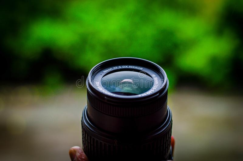 Shallow Focus Photography of Camera Lens stock images