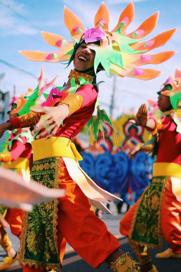 Shallow Focus Photography of Person Wearing Multicolored Costume stock images