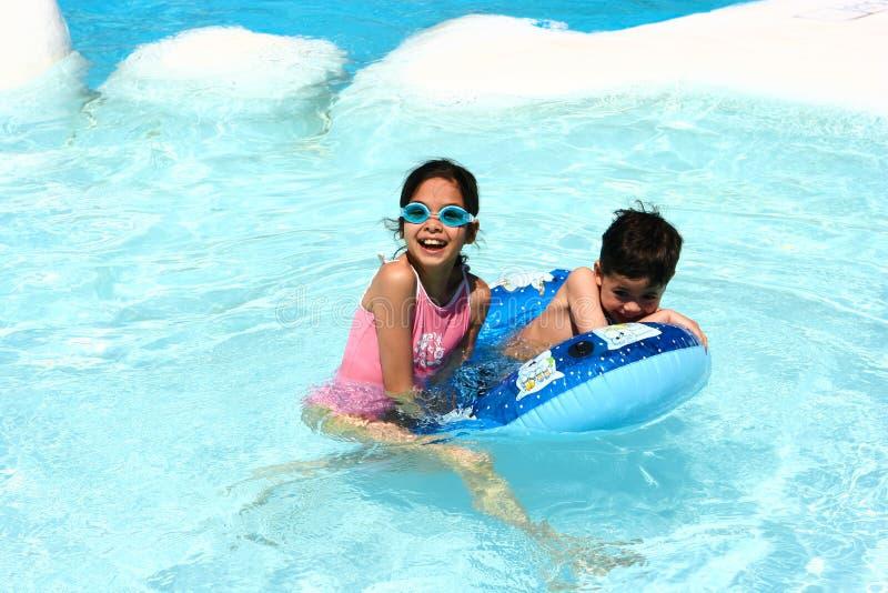 Shallow pool fun royalty free stock photography