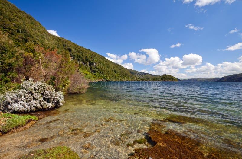 Shallows de un lago mountain fotos de archivo