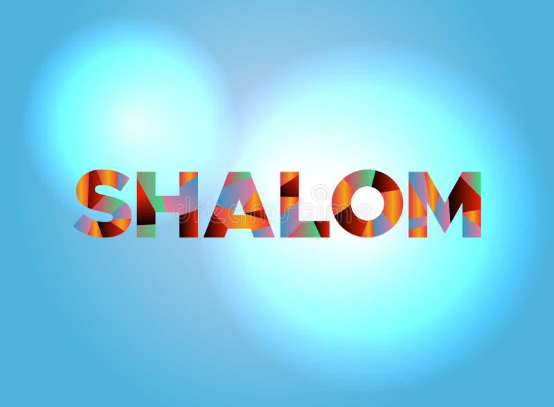Shalom Theme Word Art Illustration Stock Vector Illustration of jewish hello