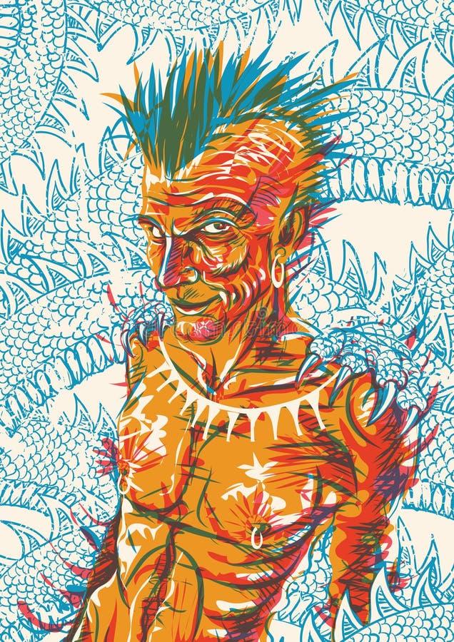 shaman stock de ilustración