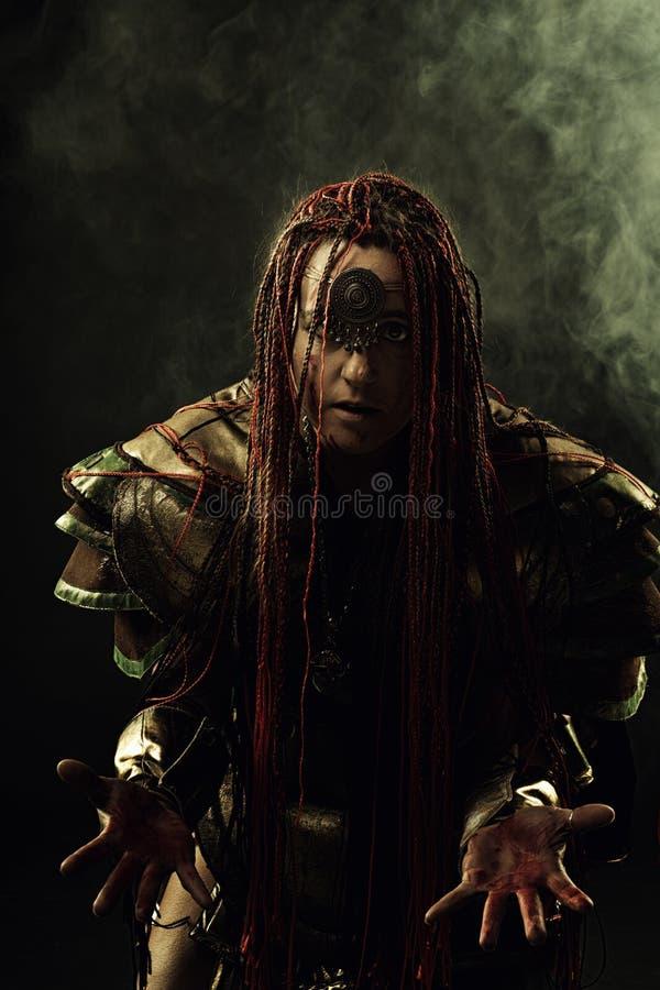 shaman arkivbild