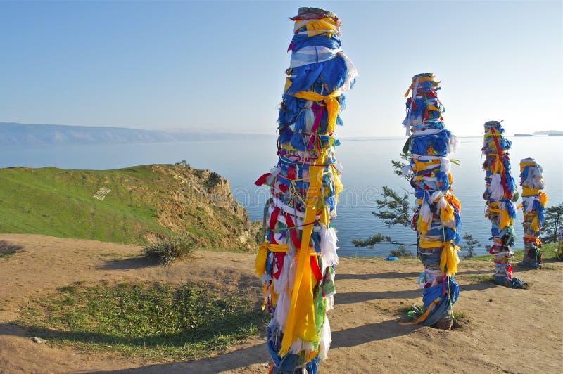 Shaman rock. Baikal stock photo