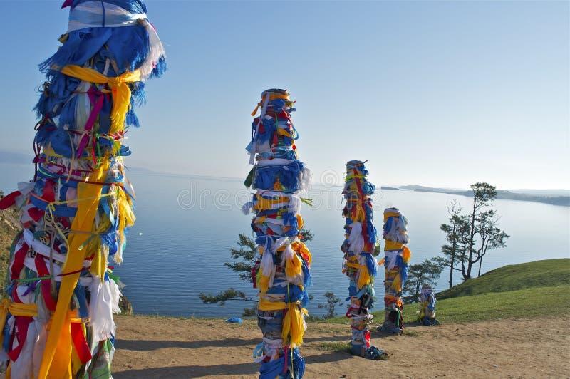 Shamanfelsen. Baikal lizenzfreies stockbild