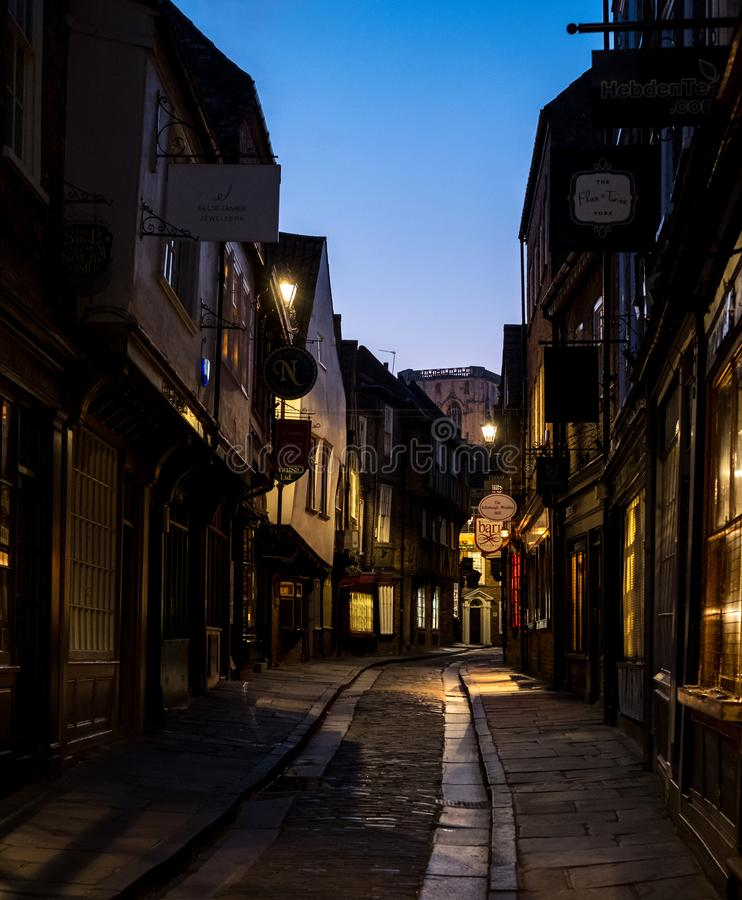 The Shambles, historic street of butcher shops dating back to medieval times. Now one of York`s main tourist attractions. royalty free stock photography