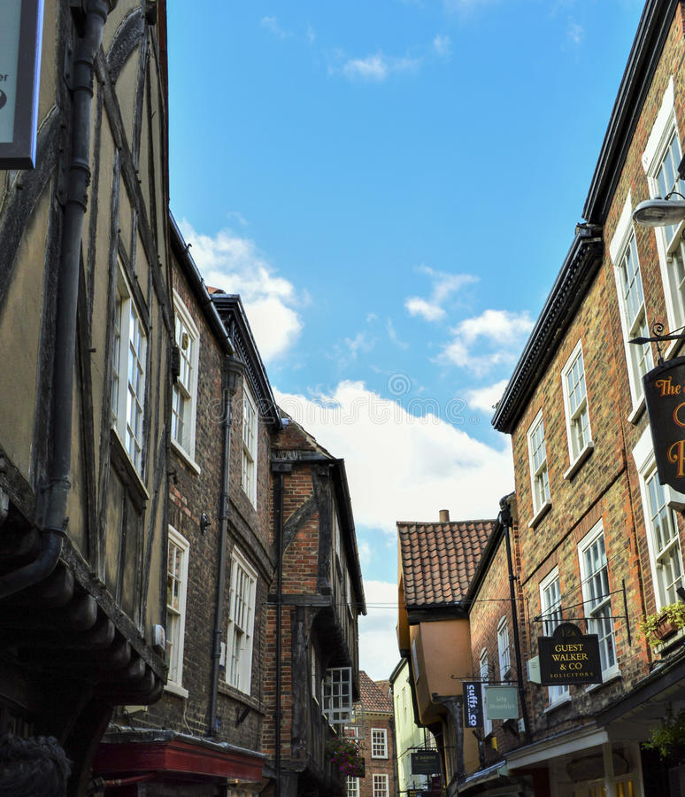 The Shambles Street in York, England stock image