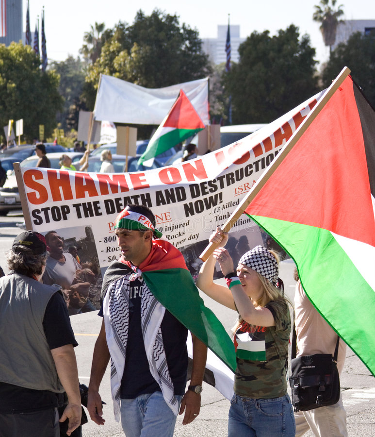 Shame On Israel Protest Editorial Photography