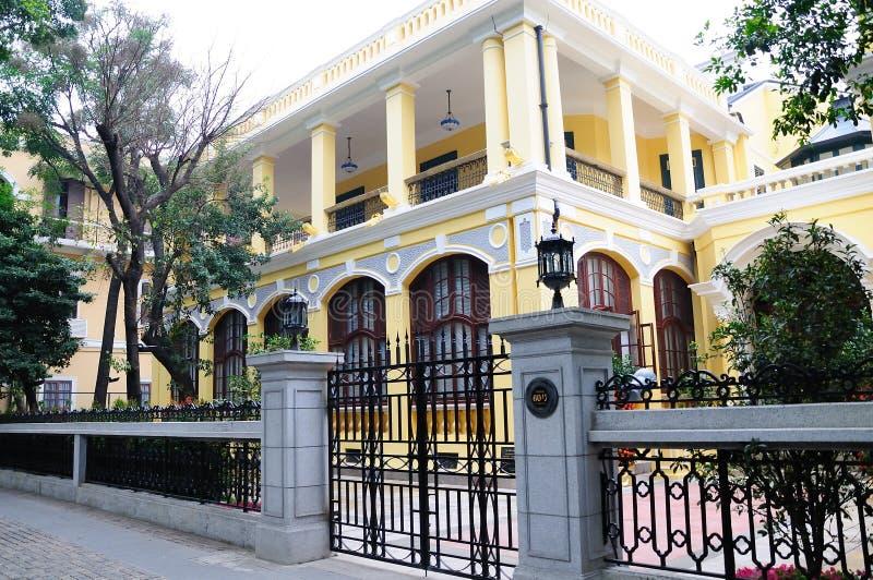 Shameen arkitektur royaltyfri bild