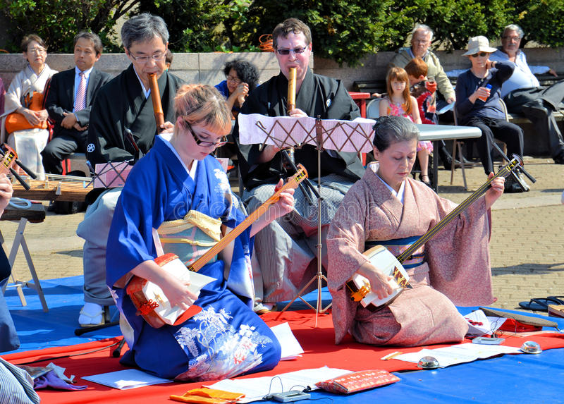 Shamisen Artists Editorial Photo