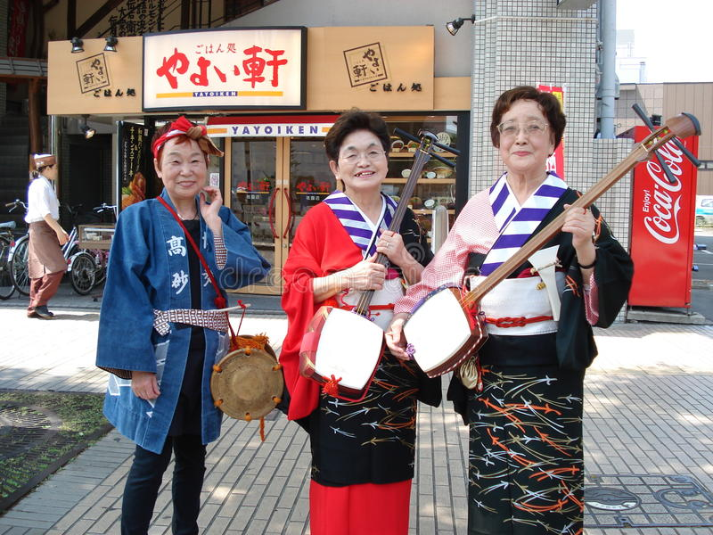 Download Shamisen Players editorial photography. Image of women - 21545042
