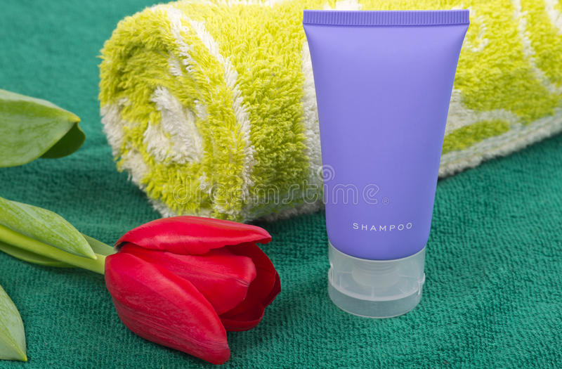 Download Shampoo And Towel Royalty Free Stock Photo - Image: 22943745