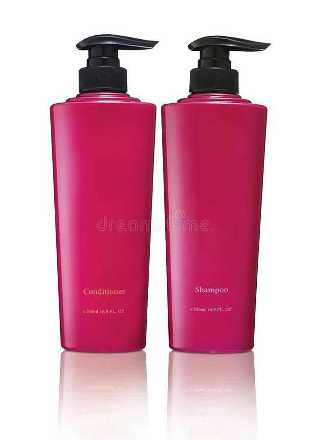 Shampoo und bedingtes lizenzfreie stockbilder