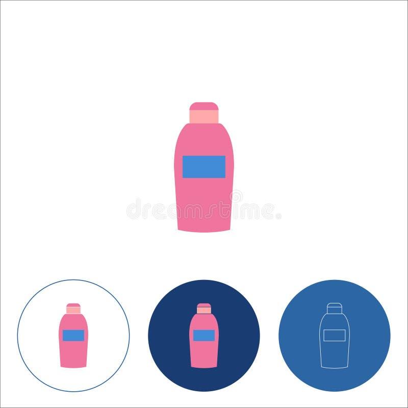 Shampooikone auf wei?em Hintergrund Editable Anschlag Auch im corel abgehobenen Betrag lizenzfreie abbildung