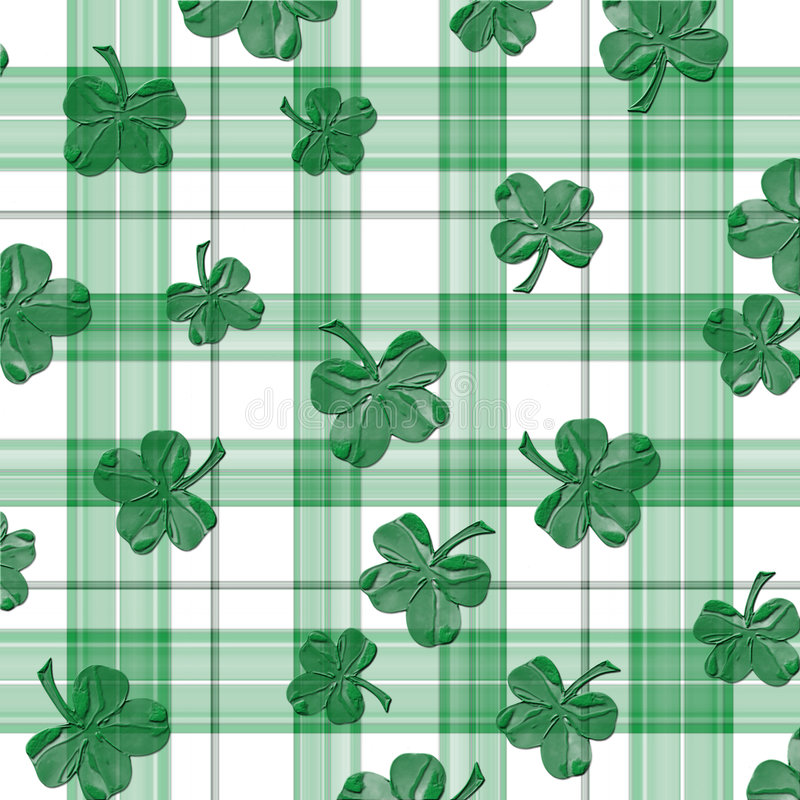 shamrock шотландки листьев клевера 4 бесплатная иллюстрация